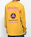 Welcome Hotline Sleeve Mustard Long Sleeve T-Shirt