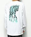 Welcome Maned Woof camiseta blanca de manga larga