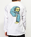 Welcome Sloth White Long Sleeve T-Shirt