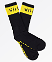 Welcome Summon Black & Yellow Crew Socks