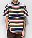Welcome Surf Red, Blue & Yellow Striped Knit T-Shirt