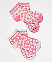Wu-Tang 2 Pack Pink All Over Logo Ankle Socks