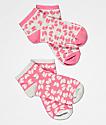 Wu-Tang All Over Logo paquete de 2 calcetines rosas