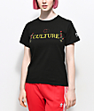 YRN Culture Rose Black T-Shirt