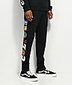 YRN Culture U Embroidered Black Sweatpants