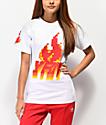 YRN Flames camiseta blanca