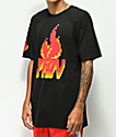 YRN Pixel Flame Black T-Shirt