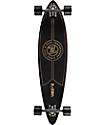 """Z-Flex Top Shelf 38"""" pintail longboard completo en negro y color oro"""