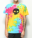 Zero Single Skull camiseta con efecto tie dye