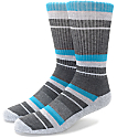 Zine 10 Feet Tall Caribbean & Dark Grey Crew Socks