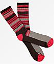 Zine Airbreak calcetines en marrón y rojo