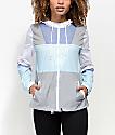 Zine Annora chaqueta cortavientos azul y blanca