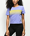 Zine Barnaby Stripe Purple Crop T-Shirt