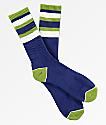 Zine Bird Baller Blue & White Crew Socks
