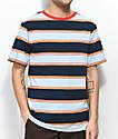 Zine Bonus camiseta a rayas en azul marino y azul claro