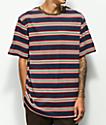 Zine Breaker Navy, Red & White Striped T-Shirt