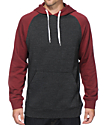 Zine Campus 2 Tone Heather Black & Maroon Hoodie