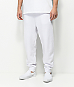 Zine Cap White Fleece Jogger Pants