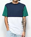 Zine Choice Block Navy, Green & White T-Shirt