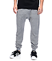 Zine Cover Grey Knit Jogger Pants