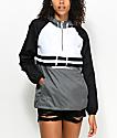 Zine Domino chaqueta cortavientos en negro, gris y blanco