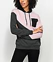 Zine Elnan sudadera con capucha de color bloqueado en color malva y gris