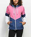Zine Evka Blue, Pink & White Windbreaker Jacket