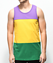 Zine Flavor Purple, Yellow & Green Tank Top