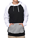 Zine Freshmix Black, Grey & White Pullover Hoodie
