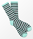 Zine Gabe Mint, Charcoal & Black Stripe Crew Socks