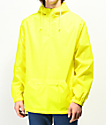 Zine Glo Reflective Yellow Anorak Windbreaker Jacket