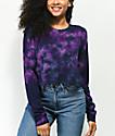 Zine Hannah camiseta morada de manga larga con efecto tie dye