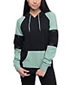 Zine Jodie sudadera con capucha en color carbón y jade