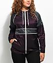 Zine Justine Blackberry & Charcoal Oversized Windbreaker Jacket