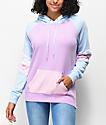 Zine Kate Lavender, Pink & Blue Colorblock Hoodie