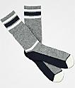 Zine Kick It Charcoal & Blue Crew Socks