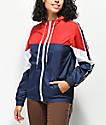 Zine Lainey Red, White & Blue Windbreaker Jacket