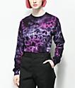 Zine Monroe Purple & Blue Tie Dye Long Sleeve T-Shirt
