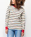 Zine Monroe Rainbow Mini Stripe Long Sleeve T-Shirt