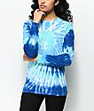 Zine Monroe camiseta azul de manga larga con efecto tie dye