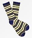 Zine Motion calcetines a rayas amarillas, rosas y grises