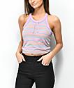 Zine Naomi Purple Stripe Tie Tank Top