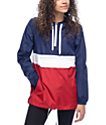 Zine Neve Red, White, & Navy Windbreaker Hoodie