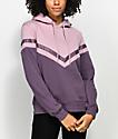 Zine Nora sudadera con capucha en color malva y morado