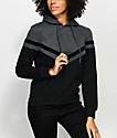 Zine Nora sudadera con capucha en negro y color carbón