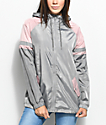 Zine Octavia Grey & Pink Elongated Windbreaker Jacket