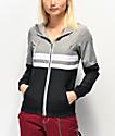 Zine Olivia Black, White & Grey Windbreaker Jacket