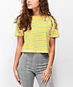 Zine Quinn Crop Yellow Stripe T-Shirt