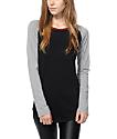 Zine Rayna Black & Grey Long Sleeve Shirt