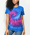 Zine Rayna camiseta tie dye morada y azul